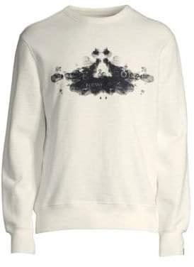 Rag & Bone Rag& Bone Rag& Bone Men's Rorschach Cotton Sweatshirt - Ivory - Size Large