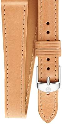 Michele 16mm Leather Wrap Watch Strap