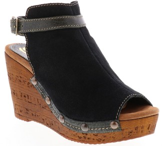 Sbicca Leather Wedge Sandals - Nicolette