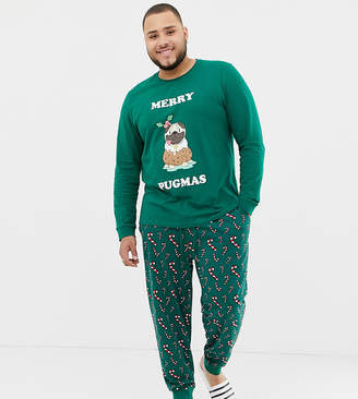 Asos DESIGN Plus Holidays lounge joggers in candy cane print