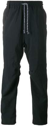 White Mountaineering drop crotch track pants