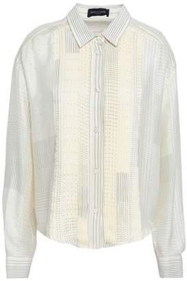 Piazza Sempione Pleated Polka-dot Silk Shirt