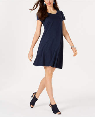 Style&Co. Style & Co Cotton T-Shirt Swing Dress, Created for Macy's