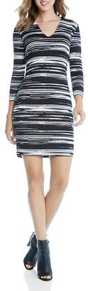 Karen Kane V-Neck Stripe Sheath Dress $118 thestylecure.com