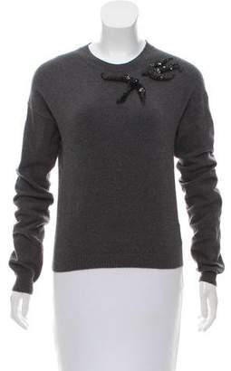 Rochas Embellished Knit Sweater