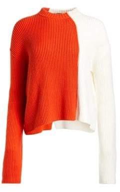 Loro Piana Zante Cashmere Bicolor Ribbed Sweater