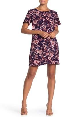 Bobeau Floral Ladder Back Shift Dress (Regular & Petite)