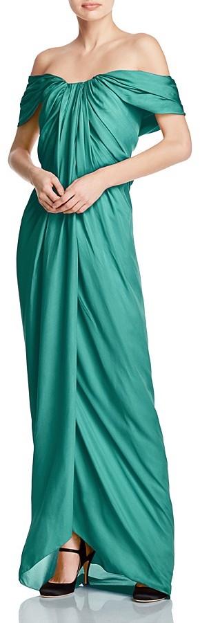Paule KaPAULE KA Off-the-Shoulder Silk Gown