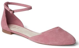 Leather ankle-strap d'Orsay flats $49.95 thestylecure.com