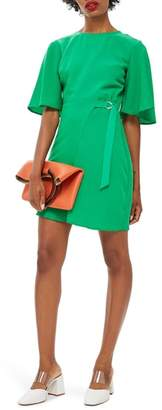 Topshop Back Cutout Asymmetrical Dress