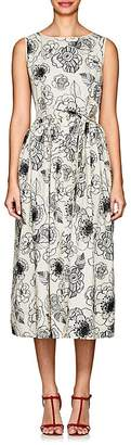 Co Women's Floral-Embroidered Cotton Sleeveless Dress
