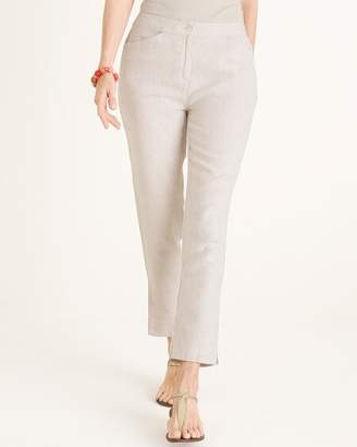 Chico's Chicos Linen Tapered Ankle Pants