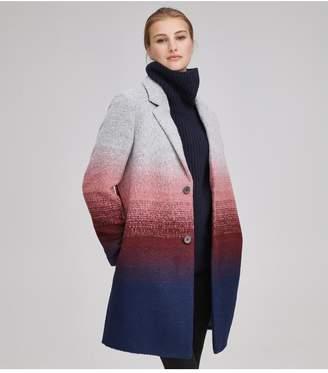Andrew Marc Belair Ombre Wool Car Coat
