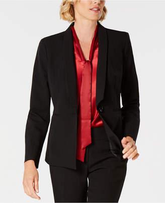 Kasper Striped Shawl-Collar Jacket