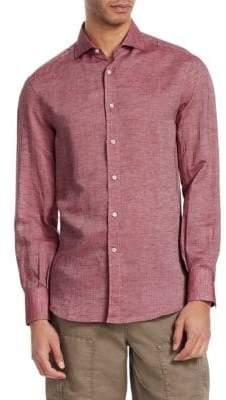 Brunello Cucinelli Linen Button-Front Shirt
