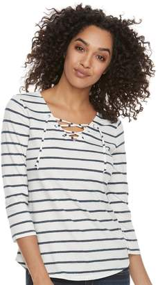 Sonoma Goods For Life Women's SONOMA Goods for Life Lace-Up Tee