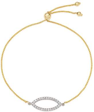 Bloomingdale's Diamond Bolo Bracelet in 14K White & Yellow Gold, 0.25 ct. t.w. - 100% Exclusive