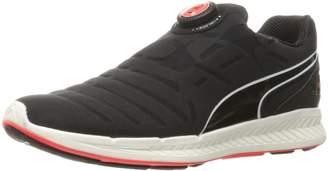 Puma Men's Ignite Disc Running Shoe, Black White, 10 M US
