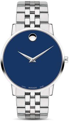 Movado Museum Classic Stainless Steel Blue Dial Watch, 40mm