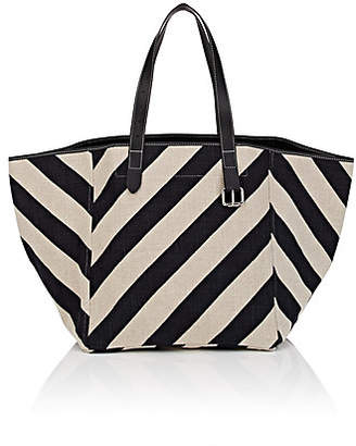 J.W.Anderson Women's Belt Leather-Trimmed Canvas Tote Bag - Wht.&blk.