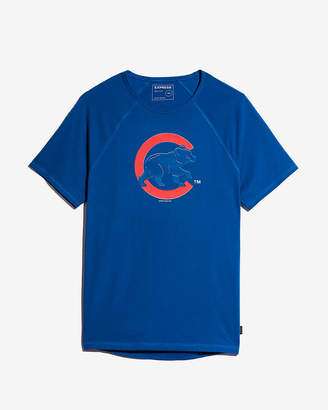 Express Chicago Cubs Raised Graphic Tee