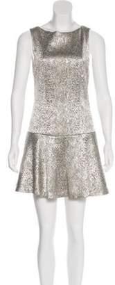Alice + Olivia Mini A-Line Dress Silver Mini A-Line Dress