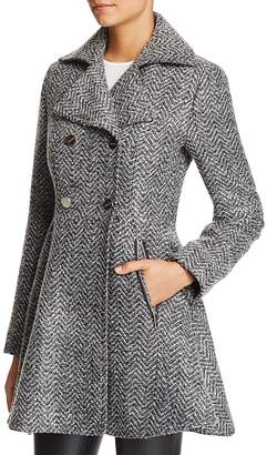 Laundry by Shelli Segal Fit-and-Flare Double-Breasted Coat $240 thestylecure.com
