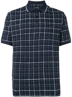 Ermenegildo Zegna grid check polo shirt