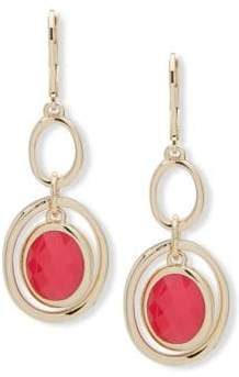 Anne Klein Faceted Two-Tone Drop Earrings