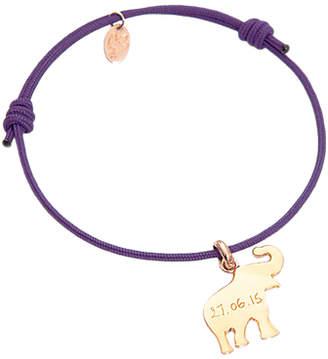 Merci Maman Personalised Elephant Charm Bracelet