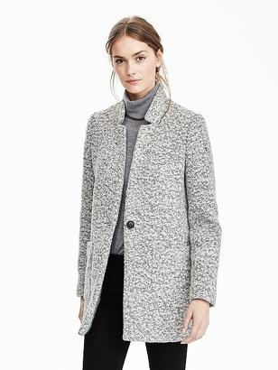 Collarless Boucle Coat $228 thestylecure.com
