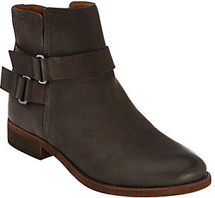 As Is Franco Sarto Leather Ankle Boots w/ Buckle Detail - Harwick $61 thestylecure.com