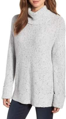 Caslon Roll Neck Cotton Wool Blend Sweater