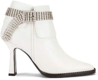 Sies Marjan Niki Calf Crystal Boot in White | FWRD
