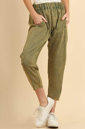 Umgee USA Olive Pant With-Pockets