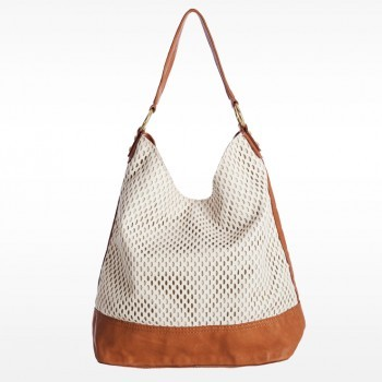 Linea Pelle Dylan Color Block Shoulder Bag