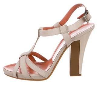 Philosophy di Alberta Ferretti Nubuck T-Strap Sandals