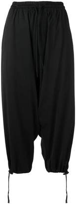 Y-3 drop crotch track trousers