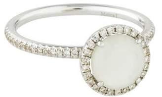 Meira T 14K Chalcedony & Diamond Ring