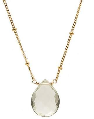 Satya Jewelry Women's Amethyst Gold Drop Necklace 18-inch