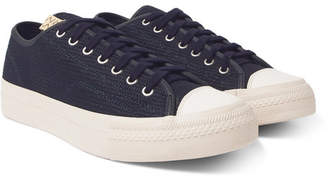 Visvim Skagway Lo Dogi Woven Canvas and Leather Sneakers - Navy