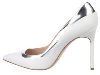 Manolo Blahnik Leather Pointed-Toe Pumps