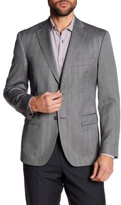 JB Britches Herringbone Classic Fit Wool Sportcoat
