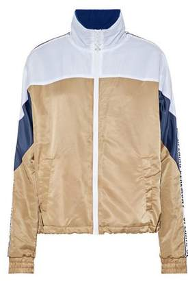 Opening Ceremony Intarsia Knit-Paneled Color-Block Shell Jacket