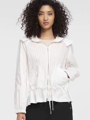 DKNY Eyelet Poplin Hooded Jacket
