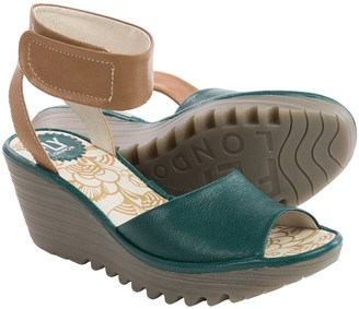 Fly London Yula Wedge Sandals - Leather (For Women) $79.99 thestylecure.com