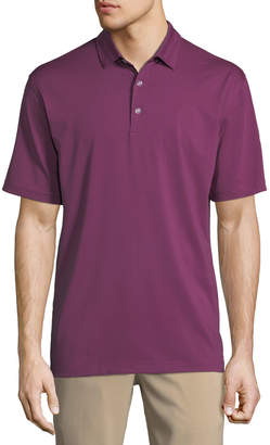 Perry Ellis Callaway Fine-Line Stretch-Knit Polo Shirt