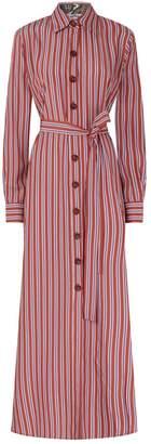 Evi Grintela Stripe Valerie Midi Dress