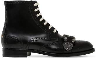 Gucci Queercore Lace-Up Leather Boots