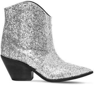 Casadei 60mm Venere Glittered Cowboy Boots